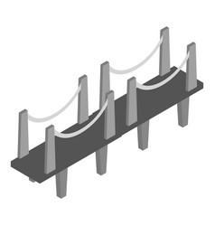 london bridge icon isometric style vector image
