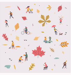 lovely minimalist pattern on fall or autumn vector image
