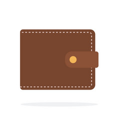 mens leather wallet flat isolated vector image