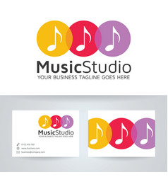 Music studio logo design vector