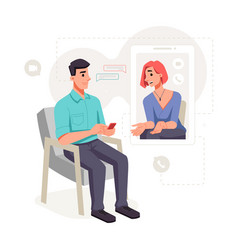 online consultation patient with psychologist vector image
