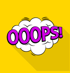 Oops icon pop art style vector