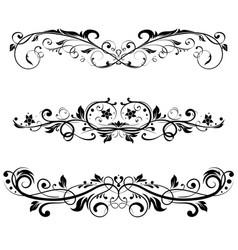Ornamental divider decorative filigree design vector