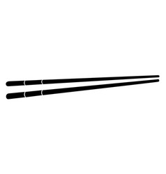 Pair of chopsticks silhouette vector
