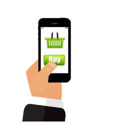 phone in hand buy 3d vector image