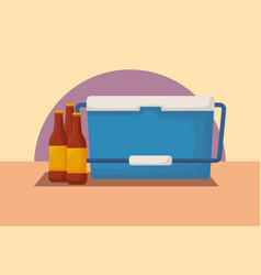 Picnic cooler icon vector