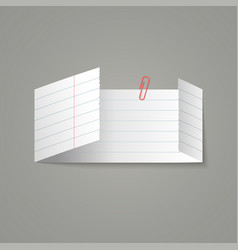 piece white lined paper sheet with folds vector image