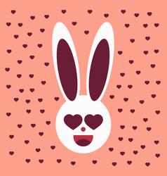 Pink cute bunny pattern vector