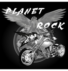 planet rock vector image