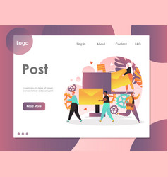 Post website landing page design template vector