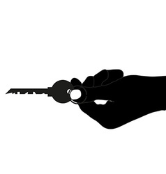 Real estate sell key vector image