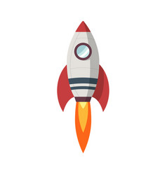 rocket launch icon flat design vector image