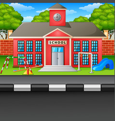 scene school building and s vector image