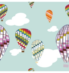 seamless background with air balloon vector image