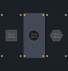 Set luxury backgrounds with arrows vector