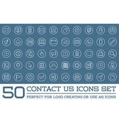 Set of Contact us Service Elements and Assistance vector