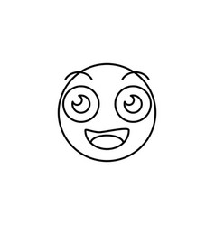 smile of emoji icon vector image