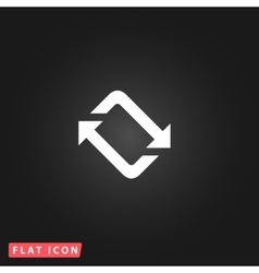 Spinning flat icon vector