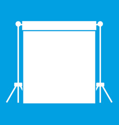 Studio backdrop icon white vector
