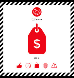 tag with dollar symbol price tag icon for vector image