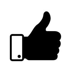 thumb up black icon vector image