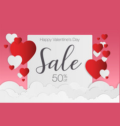 Valentines day sale background for poster vector