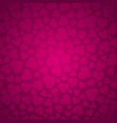 valentines pattern with pink hearts pink pattern vector image