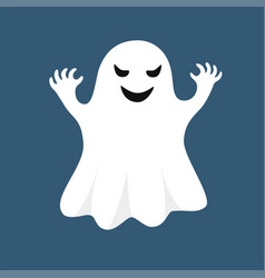 white ghost isolated on blue background vector image