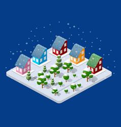 Winter christmas urban vector
