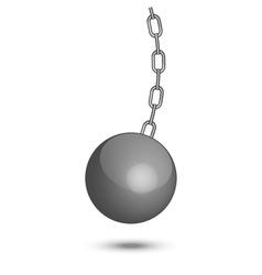 wrecking ball vector image