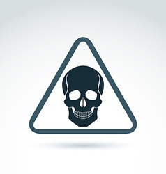 A human skull in a triangle dead head ab vector