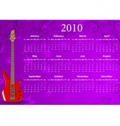 American calendar vector image vector image