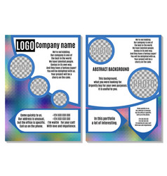 rainbow brochure with blue elements advertising vector image vector image