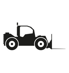 tractor sign black icon on vector image