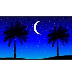 Tropic night vector