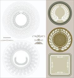 Document seals vector image vector image