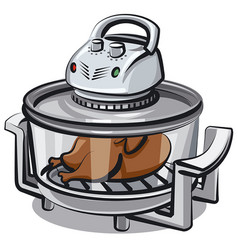 electric grill appliance vector image vector image