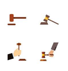 flat icon lawyer set of law crime court and vector image vector image