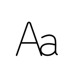 thin line grammar letter alphabet icon vector image
