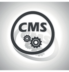 CMS settings sign sticker curved vector image