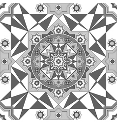 geometric ornament seamless pattern Black and vector image vector image