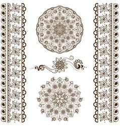 set of hand drawn decorative elements vector image