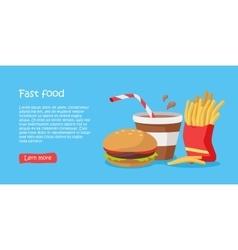 Tasty fast food banner vector