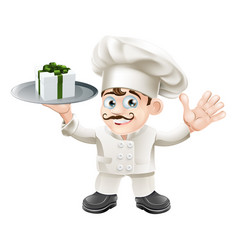 chef with present vector image