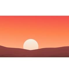 Desert landscape background nature vector