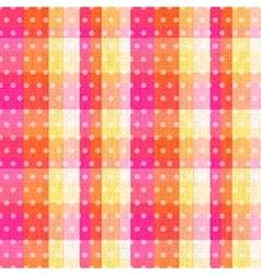 seamless abstract plaid check with polka texture vector image vector image