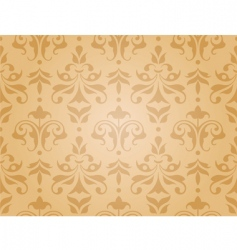 seamless damask vector image vector image
