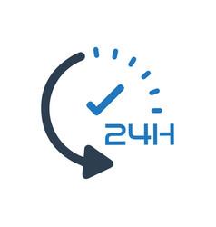 24 hour service icon vector