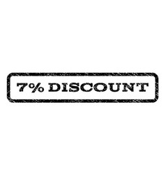 7 percent discount watermark stamp vector