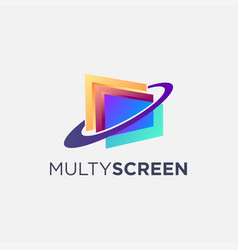 abstract multy screen logo icon template vector image